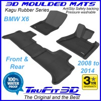To Fit BMW X6 2008 - 2014 (E71) Front & Rear 3D Kagu RUBBER