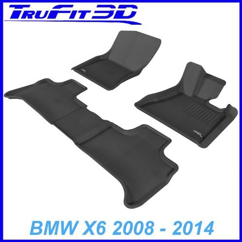 To Fit BMW X6 2008 - 2014 (E71) Front & Rear 3D Kagu RUBBER