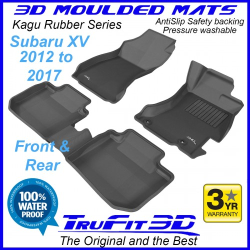 To FIt Subaru XV 2012 - 2017  Front & Rear Kagu rubber