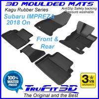 To Fit Subaru Impreza 2018 - 2020  Front & Rear Kagu rubber