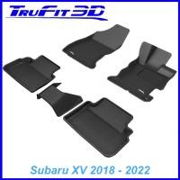 To Fit Subaru XV 2018 - 2021 Front & Rear 3D Kagu rubber