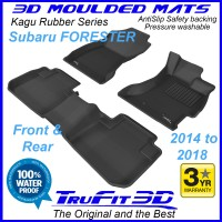 To Fit Subaru Forester 2014 - 2018 SJ Front & Rear 3D Kagu rubber
