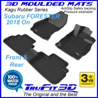 To Fit Subaru Forester 2018 - 2020 SK Front & Rear 3D Kagu rubber