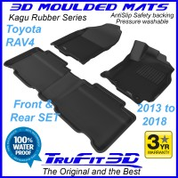 To Fit Toyota RAV 4 - 2013 - 2018  Front & Rear 3D Kagu Rubber
