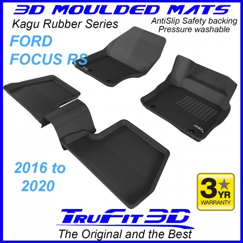 To Fit Ford Focus RS 2016 - 2020 Front & Rear 3D Kagu Rubber
