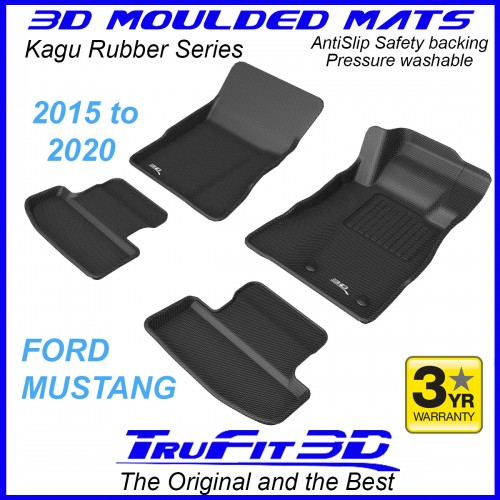 To Fit Ford Mustang 2015 - 2020 Front & Rear 3D Kagu Rubber