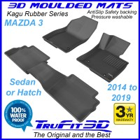 To Fit Mazda 3 - 2014 - 2019  Front & Rear 3D Kagu Rubber
