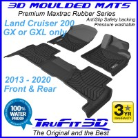 To Fit Toyota Land Cruiser 200 GX / GXL 2013 - 2020 MAXTRAC Rubber Front & Rear