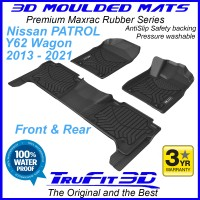 To Fit Nissan Patrol Y62 2013 - 2020 Front and Rear 3D MAXTRAC RUBBER