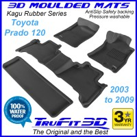 To Fit Toyota Prado 120 Series 2003 - 2009 3D Kagu Rubber (3 Rows)
