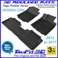 To Fit Honda CRV 2012 - 2017 Front & Rear 3D Kagu Rubber