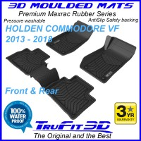To Fit Holden Commodore 2013 - 2018 VF 3D MAXTRAC RUBBER Front & Rear