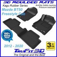 To FIt Mazda BT50 Freestyle Cab 2012 - 2020 Front & Rear 3D Kagu RUBBER