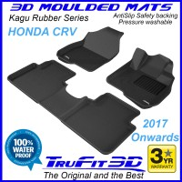 To Fit Honda CRV 2017 - 2020 Front & Rear 3D Kagu Rubber
