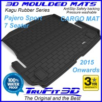 To Fit Mitsubishi Pajero Sport 2015 - 2021 7 Seater 3D Cargo Mat