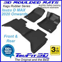To Fit ISUZU D MAX Dual Cab 2020 - 2023 Front & Rear Kagu Rubber