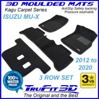 To Fit ISUZU MU-X 2012 - 2020 (NO FLOOR HOOKS) 3-Row 3D Kagu CARPET