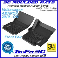 To Fit VW AMAROK 2010 - 2020 Front Pair 3D Maxtrac RUBBER
