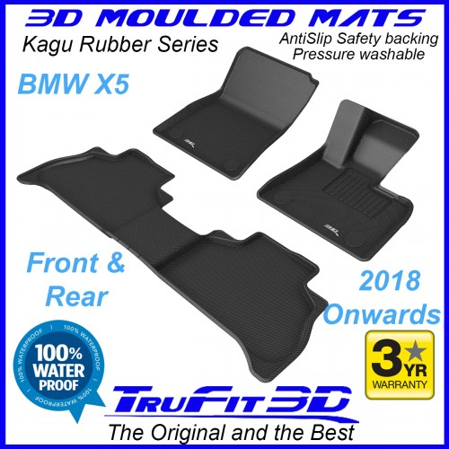 To Fit BMW X5 2018 - 2021 (G05) Front & Rear 3D Kagu RUBBER