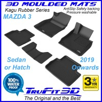 To Fit Mazda 3 - 2019 - 2021+  Front & Rear 3D Kagu Rubber