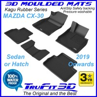 To Fit Mazda CX-30 - 2019 - 2021+  Front & Rear 3D Kagu Rubber