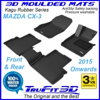 To Fit Mazda CX-3 - 2015 - 2020  Front & Rear 3D Kagu Rubber
