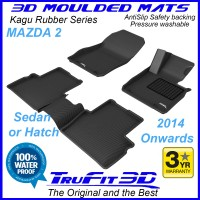 To Fit Mazda 2 - 2014 - 2020  Front & Rear 3D Kagu Rubber