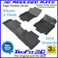 To Fit Nissan X-Trail 2014 - 2020 Front & Rear 3D Kagu RUBBER