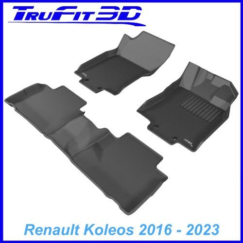 To Fit Renault Koleos 2016 - 2020 Front & Rear 3D Kagu RUBBER