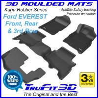 To Fit Ford Everest 2015 - 2020 3D Kagu RUBBER (3 rows)