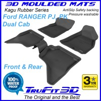 To Fit Ford Ranger Dual Cab PJ - PK  2006 - 2011 Front & Rear 3D Kagu Rubber