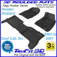 To Fit Holden Rodeo Dual Cab 2002 - 2008 Front & Rear 3D Kagu Rubber