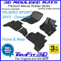 To Fit Mitsubishi Pajero Sport 2015 - 2021 3D MAXTRAC RUBBER Front & Rear