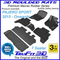 To Fit Mitsubishi Pajero Sport 2015 - 2020 3D MAXTRAC RUBBER (3 rows)
