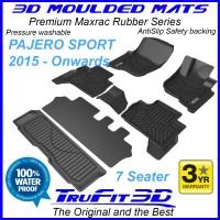 To Fit Mitsubishi Pajero Sport 2015 - 2021 3D MAXTRAC RUBBER (3 rows)