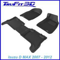 To Fit Isuzu D Max Dual Cab 2007 - 2012 Front & Rear 3D Kagu Rubber