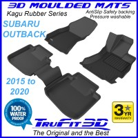 To Fit Subaru Outback 2015 - 2020  Front & Rear 3D Kagu rubber